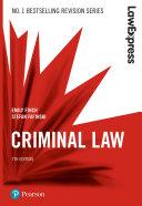 Law Express: Criminal Law