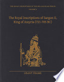 The Royal Inscriptions of Sargon II  King of Assyria  721   705 BC