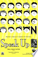 Speak Up Kindergarten Teacher S Manual1st Ed 2007 Book