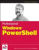 Professional Windows PowerShell