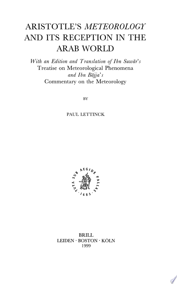 Aristotle's Meteorology and Its Rec