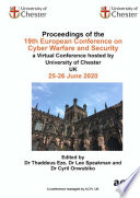 ECCWS 2020 20th European Conference on Cyber Warfare and Security Book