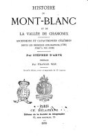 Histoire du Mont-Blanc et de la Vallée de Chamonix
