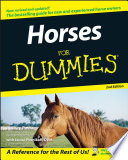"""""""Horses For Dummies"""" by Audrey Pavia, Janice Posnikoff"""