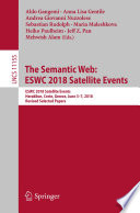 The Semantic Web: ESWC 2018 Satellite Events