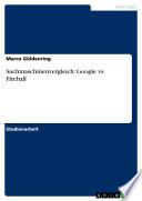 Suchmaschinenvergleich: Google vs. Fireball