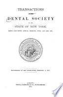 Transactions of the Dental Society of the State of New York Book