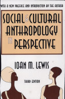 Social and Cultural Anthropology in Perspective Pdf/ePub eBook