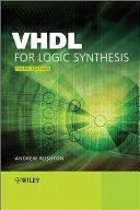 VHDL for Logic Synthesis Pdf/ePub eBook