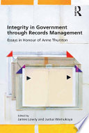 Integrity in Government through Records Management