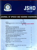 The Journal of Speech and Hearing Disorders Book