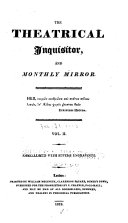 The Theatrical Inquisitor  Or  Monthly Mirror