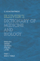 Elsevier's Dictionary of Medicine and Biology