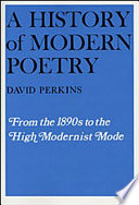 A History of Modern Poetry Book