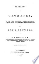 Elements of Geometry  Plane and Spherical Trigonometry and Conic Sections