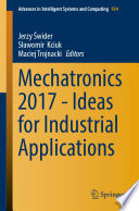 Mechatronics 2017   Ideas for Industrial Applications