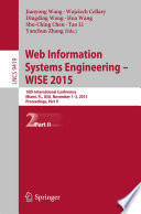 Web Information Systems Engineering     WISE 2015