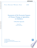 assesment of the economic impacts of climate change on agriculture in zimbabwe