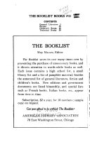 Booklist Books, a Selection