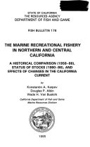 Biological Aspects of Nearshore Rockfishes of the Genus Sebastes from Central California