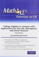 College Algebra In Context Plus Mymathlab Student Access Kit [Pdf/ePub] eBook