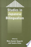 Studies In Japanese Bilingualism