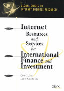 Internet Resources and Services for International Finance and Investment