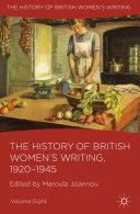 The History of British Women's Writing, 1920-1945 [Pdf/ePub] eBook