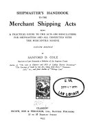 Shipmaster s Handbook to the Merchant Shipping Acts