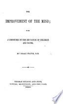The Improvement of the Mind, etc Pdf/ePub eBook