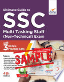 Free Sample Ultimate Guide To Ssc Multi Tasking Staff Non Technical Exam With 3 Online Practice Sets 4th Edition