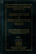 Diccionario índice de jurisprudencia penal 1989-1992. Tomo V