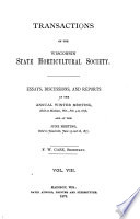 Transactions of the Wisconsin State Horticultural Society Book