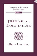 TOTC Jeremiah   Lamentations  New Edition