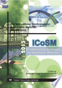2nd International Conference on Sustainable Materials  ICoSM 2013
