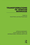 Pdf Transformations of African Marriage Telecharger