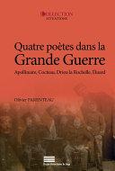 Pdf Quatre poètes dans la Grande Guerre Telecharger
