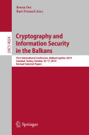 Cryptography and Information Security in the Balkans [Pdf/ePub] eBook