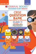 Oswaal CBSE Question Bank Class 11 For Term I   II Geography Book Chapterwise   Topicwise Includes Objective Types   MCQ s  For 2021 22 Exam