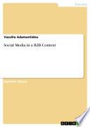 Social Media in a B2B Context