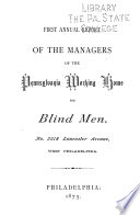 Annual Report of the Managers [for the Years 1875-1886].