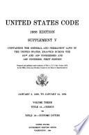 United States Code Title 13 Census To Title 19 Custom Duties