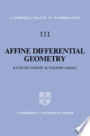 Affine Differential Geometry