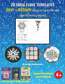 Art and Craft Ideas with Paper (28 Snowflake Templates - Easy to Medium Difficulty Level Fun DIY Art and Craft Activities for Kids)