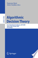 Algorithmic Decision Theory