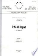 Official Report of Debates Book