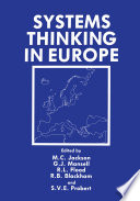 Systems Thinking in Europe Book