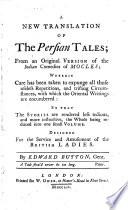 A New Translation of the Persian Tales