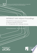 INTERACT 2015 Adjunct Proceedings
