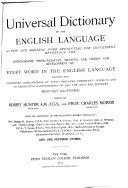 Universal Dictionary of the English Language  Ine Rhe